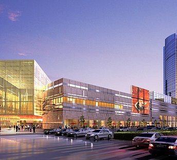 城市夜景购物中心