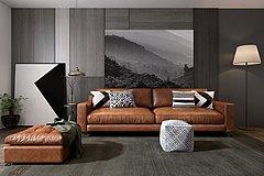 现代沙发组合整体模型