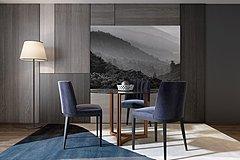 现代餐桌椅整体模型