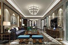 现代风格的客厅整体模型