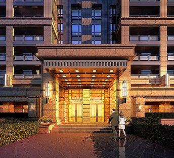 酒店建筑大门