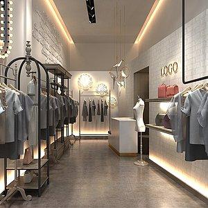 服裝店整體模型
