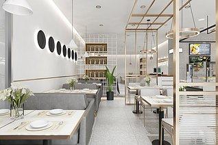 餐厅工装模型