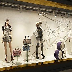 服装店橱窗整体模型