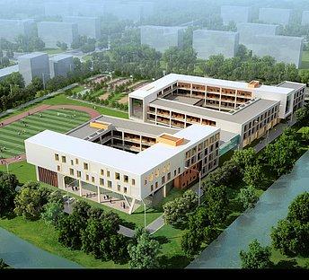 学校教学楼体育场