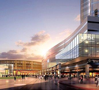 现代大型商业街购物中心