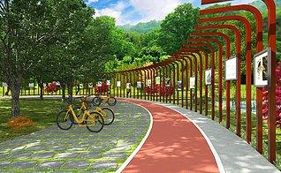 湿地公园景观长廊3d模型