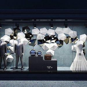 橱窗服装店整体模型