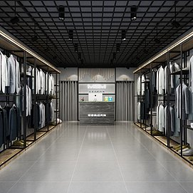 服装店整体模型