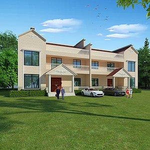 建筑别墅工装3d模型