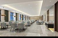 餐厅食堂3d模型