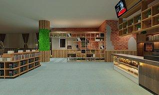 大学内咖啡厅3d模型