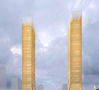 金色高层建筑