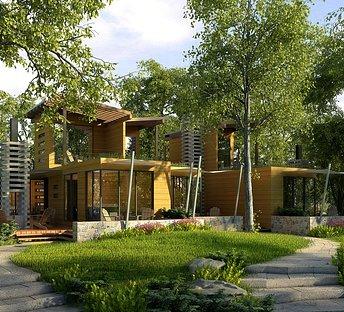 室外建筑别墅