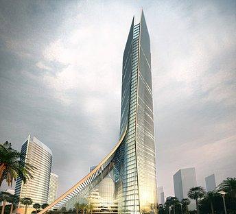 室外高层建筑大厦