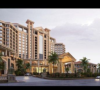 酒店室外整体建筑