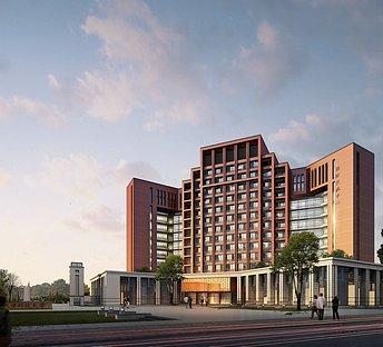 天津科技大学国际交流中心室外建筑