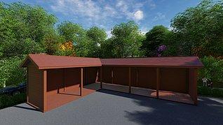 森林木工具房3d模型
