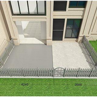 木地板木护栏3d模型