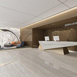 装饰大厅前台3d模型