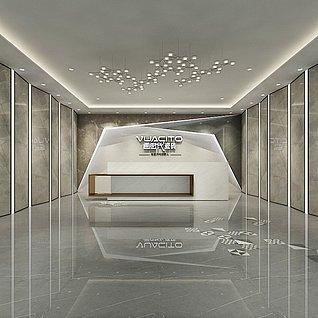 瓷砖大厅前台3d模型
