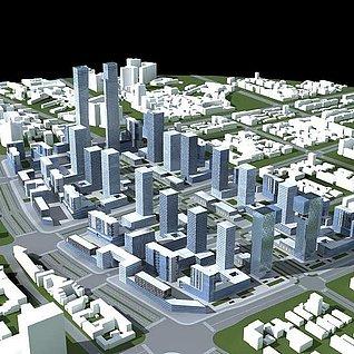 城市建筑群3d模型
