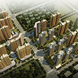 高层小区住宅楼3d模型