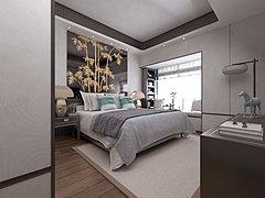 新中式卧室3D模型