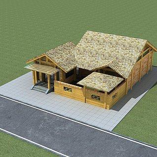 乡村别墅3d模型