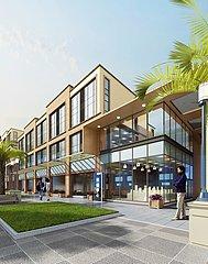 办公楼建筑外景3D模型