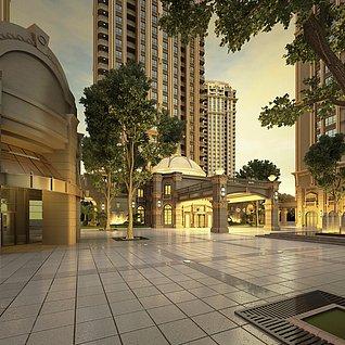 商业建筑外景3d模型