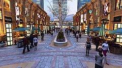 步行街商业街3D模型