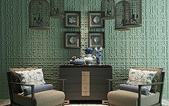 新中式沙发边柜陈设品组合3D模型