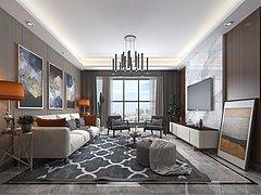 客厅日景3D模型