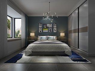 北欧风卧室3d模型