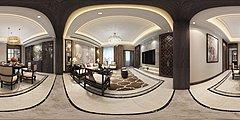 新中式客厅3D模型