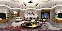 新中式奢华客厅3D模型
