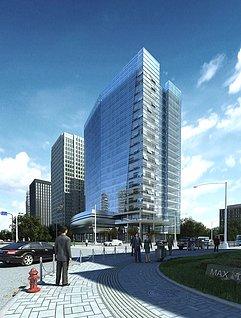 全模渲染建筑街景3d模型