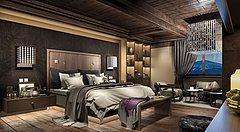 现代美式卧室3D模型