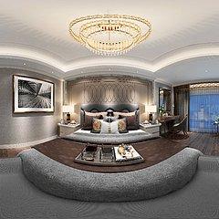 现代轻奢公寓整体模型