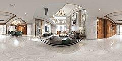 后现代客厅全景模型3D模型