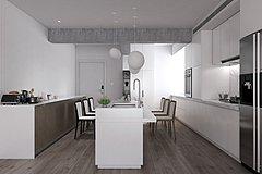 现代吧台吧椅橱柜3D模型
