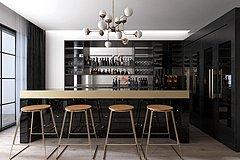 现代吧台吧椅酒柜3D模型