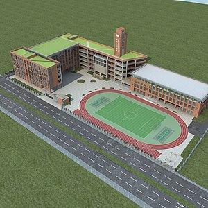 学校规划模型3d模型