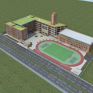 学校规划3d模型