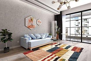 现代沙发床家装3d模型
