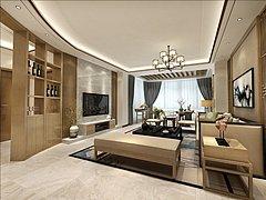 新中式,客厅,餐厅,卧室3D模型