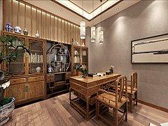 中式红木办公室3D模型