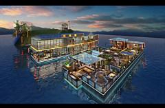 水上餐厅3D模型