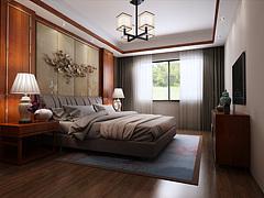 卧室,主卧,新中式,中式3D模型